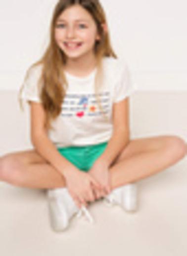 DeFacto Baskılı Genç Kız Body Ekru